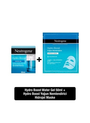Neutrogena Hydro Boost Water Gel 50 Ml + Yoğun Nemlendirici Hidrojel Maske Renksiz